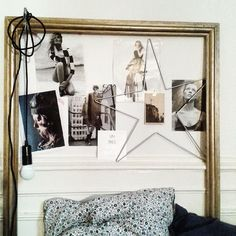 Use an empty frame to frame your clippings and photos: Atelier rue verte