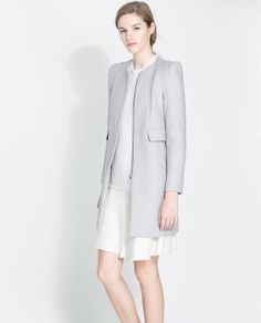 Image 2 of COAT WITH GATHERING ON THE SHOULDER from Zara