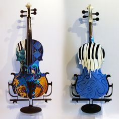Jest Kidding Hand Painted Violin by JuleezGallery on Etsy
