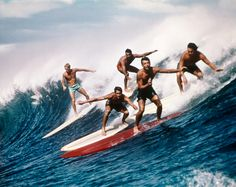 Waves were crowded even in the sixties. From 6 vintage surfing photos - The Week
