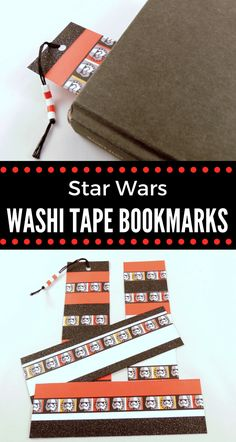 You can easily make these Star Wars washi tape bookmarks for any Star Wars fan in your life. All you need is some cardstock and washi tape. Star Wars Crafts, Kindergarten Projects, Washi Tape Crafts, Printable Star, Diy Bookmarks, Star Wars Merchandise, Crochet Stars, Fun Crafts For Kids, Crafty Projects