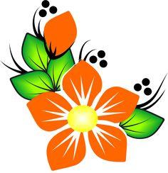 花類nail Painted Flower Pots, Painted Pots, Art Drawings For Kids, Easy Drawings, Flower Patterns, Flower Designs, Deco Cuir, Deco Kids, Flower Clipart