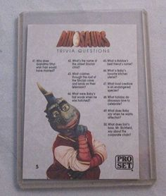 Dinosaurs TV Series Trading Card featuring: 'Trivia Card' - #TV #Card
