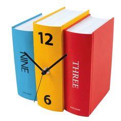 KA4284.jpg - Bordsklocka Colour Book Clock - Heminredning på nätet hos Inreda.com