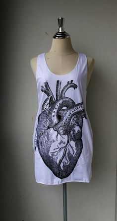 Heart Anatomy Tank Top  women tank top women by Tshirt99 on Etsy, $15.99