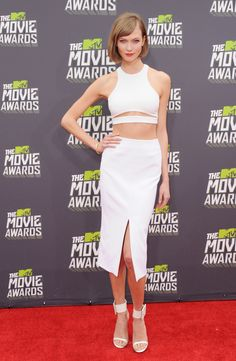 Best (and Wildest) Dressed at the 2013 MTV Movie Awards - Karlie Kloss #fashion