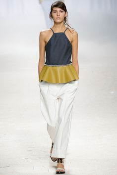 3.1 Phillip Lim - Spring 2014 RTW / usually, I turn down hip ruffles with a big 'helllll no.' But this... is bold.