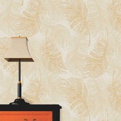 Perfect Delicate Feather Gold Rose Paper Coloroll Feather Gold Effect Wallpaper | Inspired Wallpaper