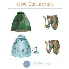 Nueva colección lamparas y artículos decorativos con sabor y raza. Acabados decapados naturales. Azules, verdes, turqueaa naranjas. .. www.dmediterranea.es