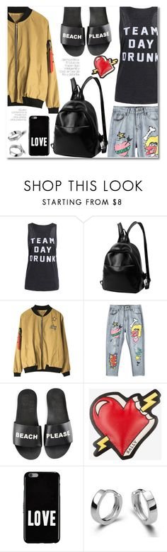 """Print tank top"" by laurafox27 ❤ liked on Polyvore featuring Schutz, Bally and Givenchy"