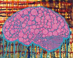 Human Brain Anatomical Abstract by Kelly Pound #painting #artwork #brain #abstract #anatomy