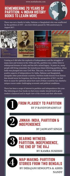 There was not a family in India, Pakistan or Bangladesh who was unaffected by the partition of 1947 – an event which passed its 70th anniversary in August 2017. Here are 4 Indian history books you need to learn more! To find out further information visit: https://www.motilalbooks.com/
