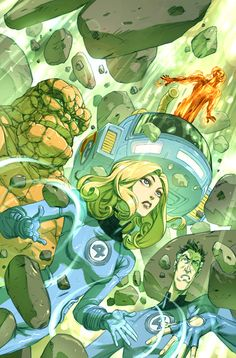 Fantastic Four by Niko Henrichon