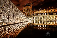 HDR image of the Louvre museum and Pyramid at night Historical Architecture, Latest Images, To Go, Louvre, Paris, Night, Building, Photography, Travel