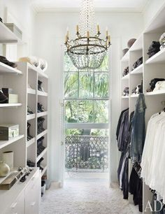 Closet with lots of light.