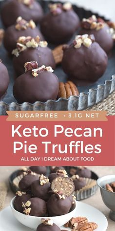 These Keto Pecan Pie Truffles are easy to make and so delicious! They are a perfect no bake sugar-free treat for any time of year.
