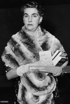 American heiress to the Woolworth estate, Barbara Hutton (1912-1979) pictured wearing a fur shawl at London Airport before leaving for Paris on June 24th 1960.
