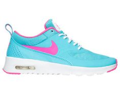 SALE!! Swarovski Nike Girls / Women Gamma Blue/Pink Blast Nike Air Max Thea Made with SWAROVSKI® Crystals- New In Box
