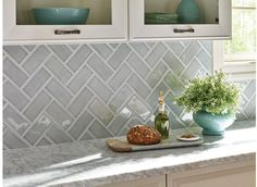 Highland Park Handcrafted Tile Collection - Morning Fog x Kitchen Tile, Rustic Kitchen, Country Kitchen, New Kitchen, Kitchen Decor, Kitchen Ideas, Kitchen Cabinets, Kitchen Counters, Kitchen Islands