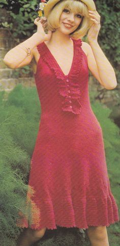 PDF Vintage summer dress knitting pattern knitted pdf INSTANT download pattern only pdf 1970s