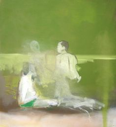 Thomas Eggerer- Stranded (Inward Version) 2006 Oil on canvas 27 x 25 inches Figure Painting, Painting & Drawing, Berlin, Collage, International Artist, Office Art, Contemporary Paintings, Figurative Art, Art Forms