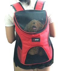 Pet Dog Cat Double Shoulder Backpacks Sport Travel Outdoor Backback Carrier Bag For Small Animal Puppy-in Dog Carriers from Home & Garden on Aliexpress.com | Alibaba Group