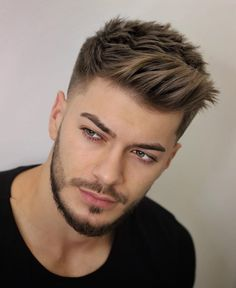 Side Brush Up and Taper Fade - Best Short Haircuts For Men: Cool Men's Short Hairstyles Mens Hairstyles Fade, Cool Hairstyles For Men, Hairstyles Haircuts, Short Hairstyles For Men, Short Hair Hairstyle Men, Middle Part Hairstyles Men, Quiff Hair, Teen Boy Hairstyles, Virtual Hairstyles