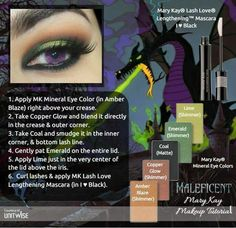 Disney Villain Maleficent inspired Mary Kay Look! Disney Inspired Makeup, Disney Makeup, Maleficent Makeup, Malificent, Mary Kay Eyeshadow, Mary Kay Makeup, Eyeshadow Tips, Mary Kay Cosmetics, Make Up Looks