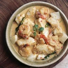 Seafood in Coconut Red Curry Recipe