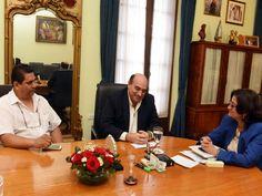 Lucia Corpacci recibió en su despacho a Manuel Allende, gerente del Grupo Emilio Luque, quien invitó al acto inaugural de la nueva sucursal de la firma