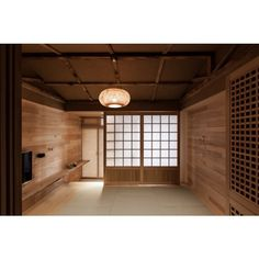 Modern Japanese House ❤ liked on Polyvore featuring rooms, backgrounds, empty room, interior and room background