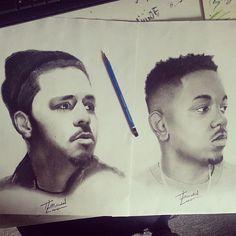 J. Cole & Kendrick Lamar drawing