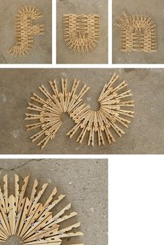 Peg type, made with wooden pegs.