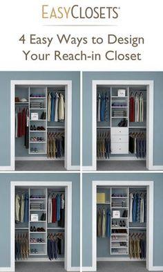 Reach In Closet Design Dimensions . Reach In Closet Design Dimensions . More Click [ ] Easy Affordable Diy Wood Closet Shelves Ideas Armario, Dressing Design, Master Bedroom Closet, Diy Bedroom, Bedroom Storage, Bedroom Ideas, Trendy Bedroom, Bathroom Closet, Bedroom Closets