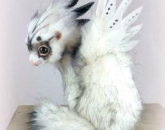 SOLD ~ Fantasy Ferret ~ Realistic Art Doll ~ Poseable Fantasy Creature