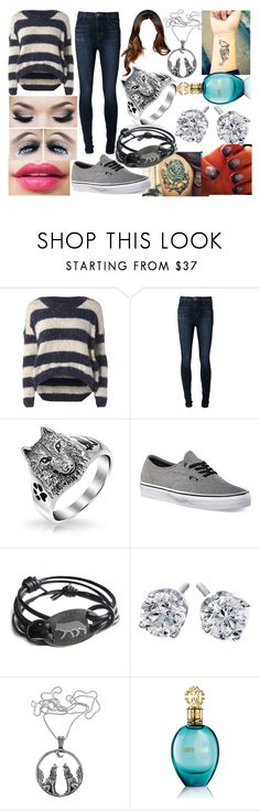 """Let the Freak Out"" by lavonneb88 ❤ liked on Polyvore featuring AX Paris, J Brand, Bling Jewelry, Vans and Roberto Cavalli"