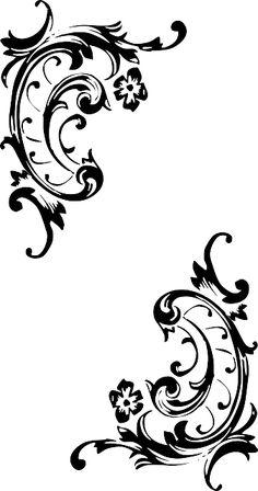 baroque, pattern, style, flourish, corner, border