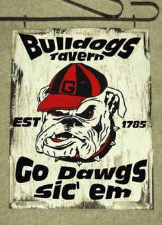 GEORGIA BULLDOGS Bar Tavern Sports Room or Pub Sign or gameroom. $24.99, via Etsy.