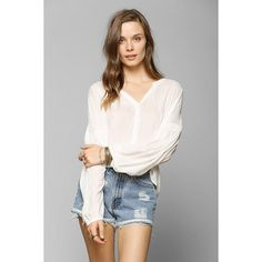 Urban Renewal Ribbon-Trim Denim Short