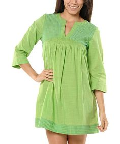 Another great find on #zulily! Lime Dominica Notch Neck Tunic by Haute Latitude #zulilyfinds