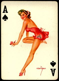 Alberto Vargas - Pin-up Playing Cards (1950) - Ace of Spades