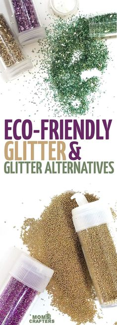If you love crafting with glitter but want an eco friendly glitter option, these biodegradable glitter ideas inclde some glitters and glitter alternatives. #glitter #teencrafts #ecofriendly #GlitterRoots