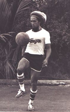 ~ Bob Marley playing soccer / football ~