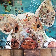 piggy magazine collage by charla steele