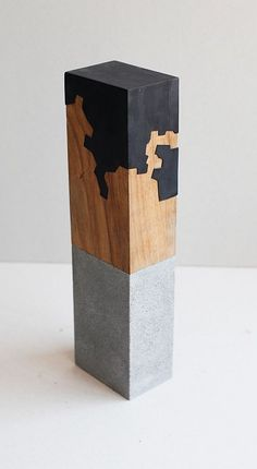THE WOOD COLLECTOR | Jorge Yazpik (wood, metal, concrete) (Inspired by Chillida)