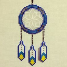 Dreamcatcher perler beads by funk_a_delic_096
