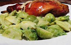 Sprouts, Potato Salad, Potatoes, Chicken, Meat, Vegetables, Ethnic Recipes, Food, Potato