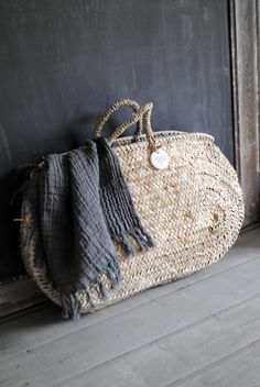 "Matières Nomades products inspiration - natural basket - available in different a sizes and shapes - come and visit us - Panier ""Doum"" arrondi"