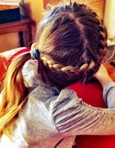 Fun braid and side pony- little girl hair