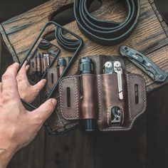 Lightroom, Photoshop, Edc Gadgets, Everyday Carry Gear, Leather Craft, Handmade Leather, Pocket Organizer, Edc Gear, Leather Working